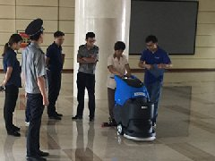 青岛胶州物业公司采购拓成手推式洗地机