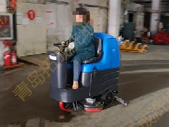 山东济南大型地下停车场使用拓成洗地机